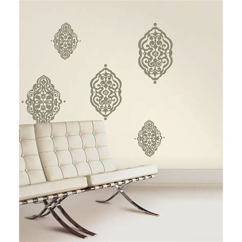 snap 39 75 in x 17 125 in gray diamante wall decal wc1286276 the home depot