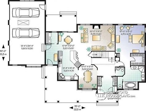 house plan w3131 detail from drummondhouseplans com open floor house plans ranch style elegant house plan