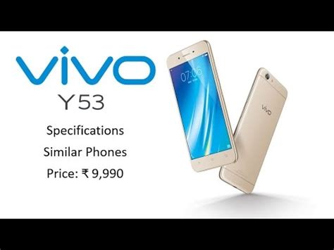 vivo y53 specification priced rs 9 990