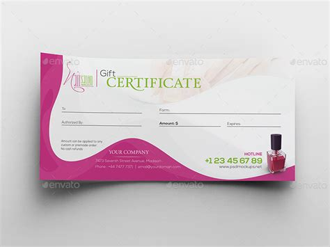 salon gift card template nail salon gift certificate and business card template by