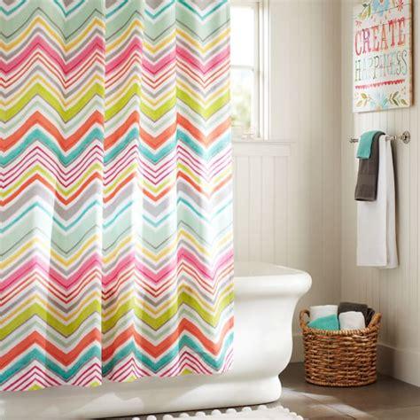 teenage girl shower curtains zig n zag shower curtain pbteen