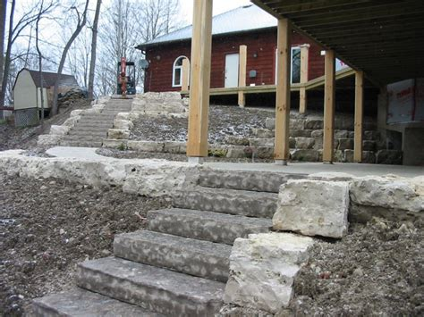 stone walls retaining walls robin aggus natural landscaping project queen street guelph robin aggus
