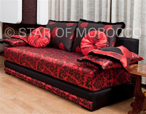 moroccan style sofa red modern moroccan living room