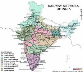 india map railway zone