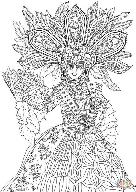 Dama Di Venezia coloring page | Free Printable Coloring Pages
