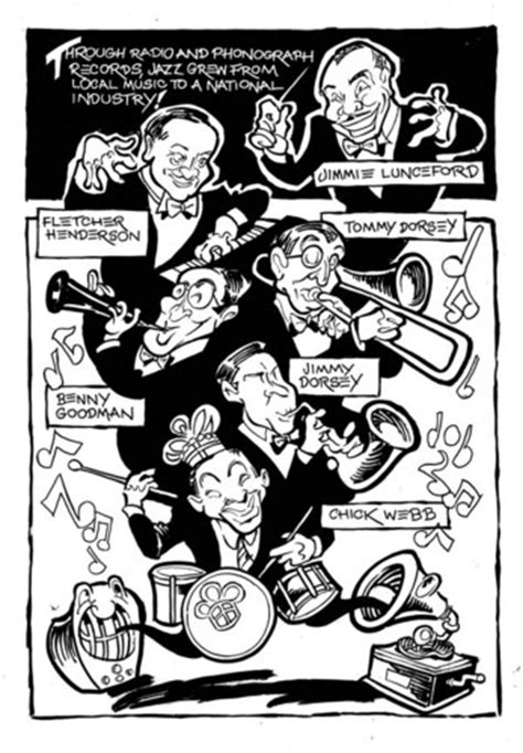 swing band leaders swing bandleaders by milton famous people cartoon toonpool