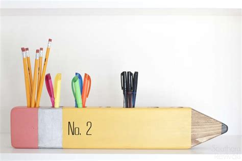 Back To School Diy Pencil Desk Organizer Pencil Desk Organizer