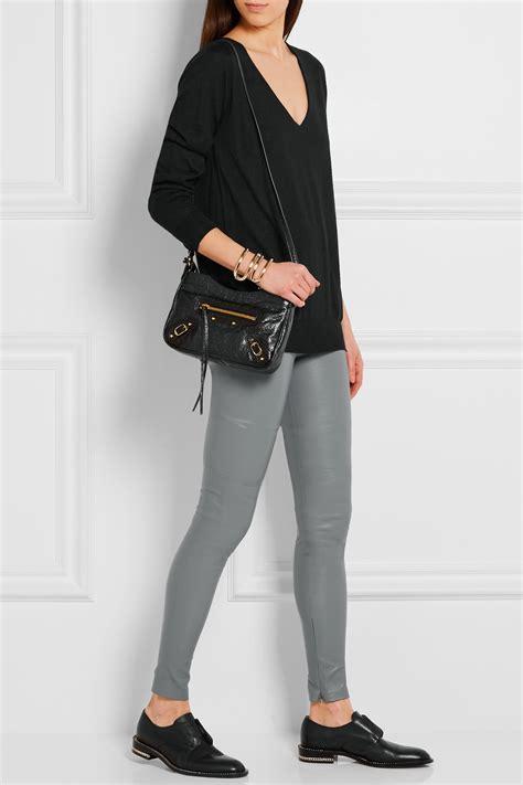 26121 Gray Stretch Leather balenciaga stretch leather in gray lyst