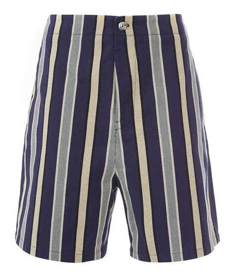 Striped Shorts lyst acne studios blue striped shorts in blue for