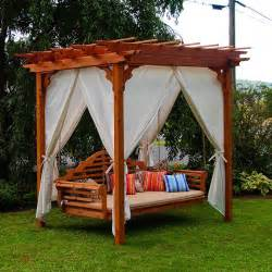Pergola Bed a amp l furniture co cedar pergola arbor swing bed set 426c