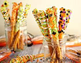 Light Desserts For Dinner Party - gourmet halloween pretzel rods halloween recipes easy halloween treats halloween party ideas