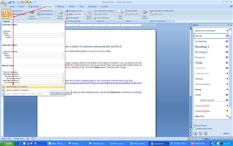 word 2016 2013 2010 using simple borders for a table of contents create a table of contents in word 2013 how to create a table of contents in microsoft word