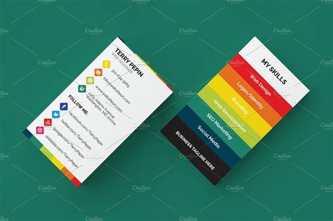 Social Media Business Card 61 Business Card Templates Creative Market Social Media Card Template Free