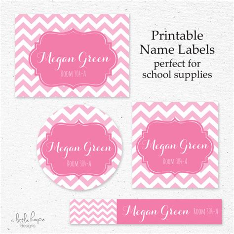 printable name tags for school back to school name label set printable personalized name