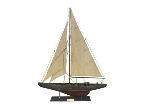 Sailboat Models For Decoration by Buy Wooden Rustic Endeavour Limited Model Sailboat