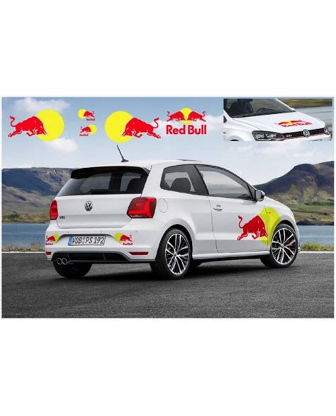 Aufkleber Auto Red Bull by Vw