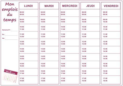 Modele Emploi Du Temps A Completer Document Online Coloriage Emploi Du Temps Imprimer L