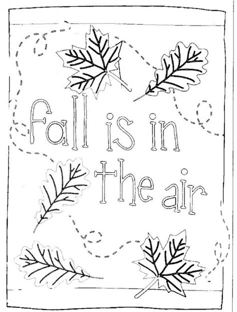 preschool fall coloring pages fall is in the air kids