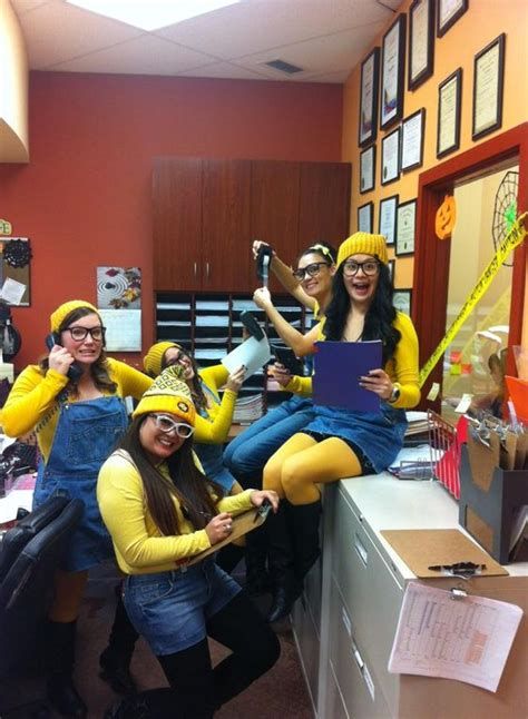 halloween themes for groups at work hard at work minions and minion costumes on pinterest