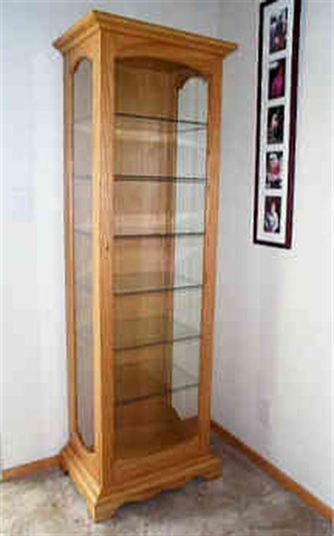 wood curio cabinet plans how to build an easy diy
