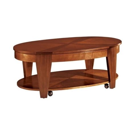 oval lift top coffee table hammary oasis oval cocktail table w lift top in cherry