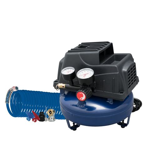 cbell hausfeld 1 gal air compressor with basic inflation kit fp2028 the home depot