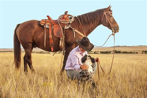 cowboys images a cowboy and his on a ranch hd wallpaper and