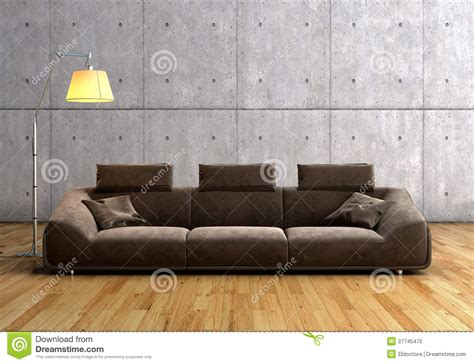 Braunes Sofa by A Modern Brown Sofa And L Stock Photo Image 27745470