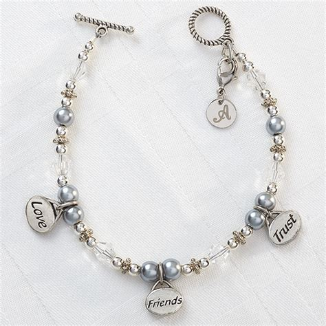 9293 friends trust personalized charm bracelet