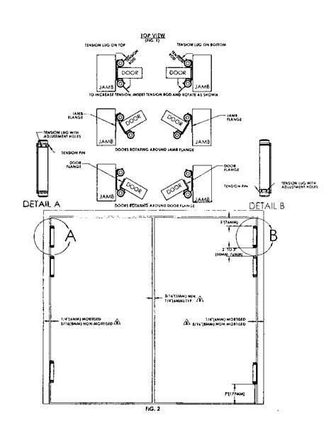 swinging door hinge installation instructions for mounting double action spring hinges