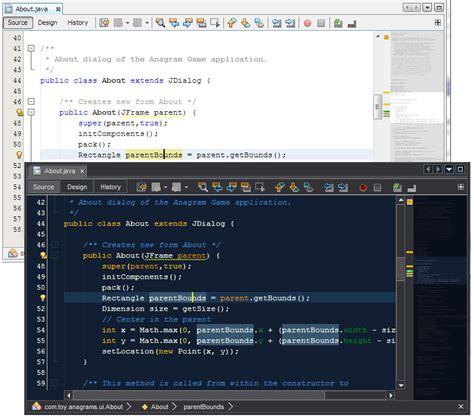 theme editor netbeans code outline netbeans plugin detail