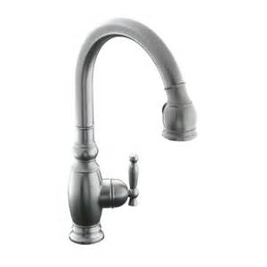 shop kohler vinnata vibrant stainless 1 handle pull down