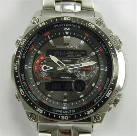 casio edifice wave ceptor tough solar  mens wrist  catawiki