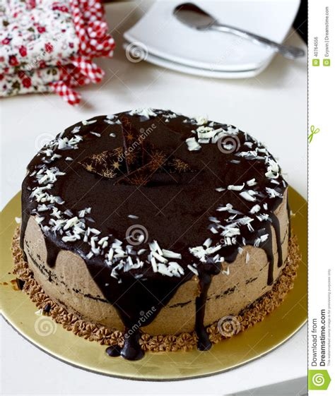 Chocolate Fudge Cake Decoration by Chocolate Cake Stock Photo Image 40764556