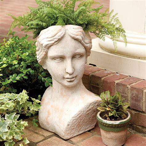 terra cotta planters terra cotta bust planter