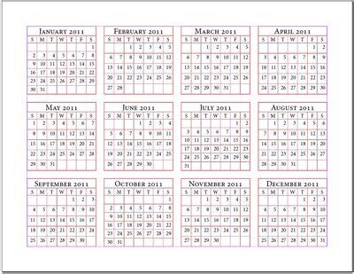 12 months calendar   printable yearly calendar