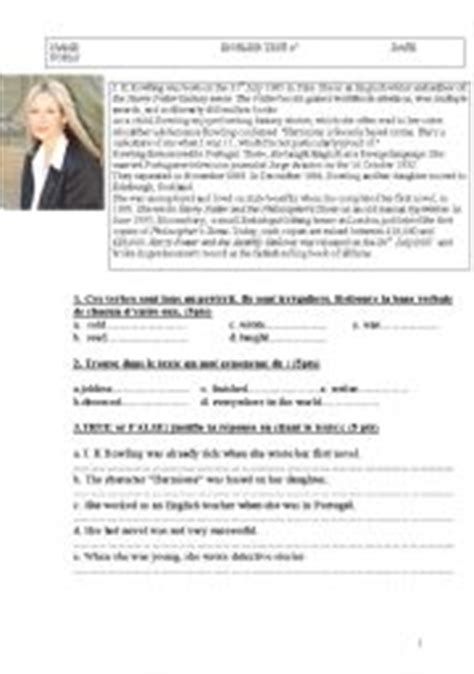 esl biography exercise english exercises who is j k rowling past simple
