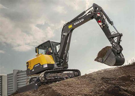 powerful  volvo ce excavator fits tight sites