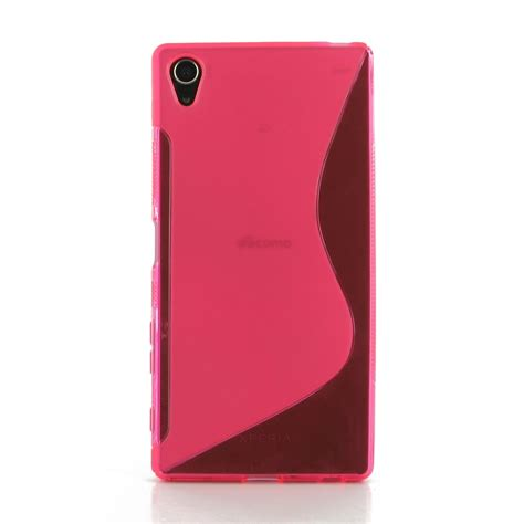 pink pattern cases sony xperia z5 premium soft case pink s shape pattern