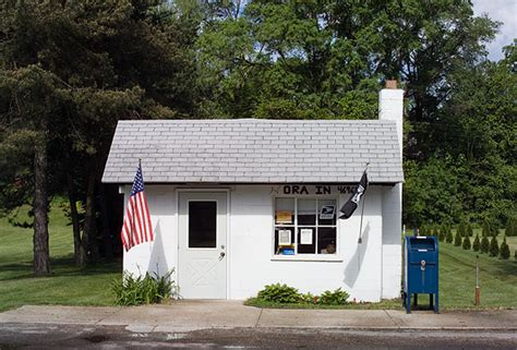 us post office in ora indiana photograph by christopher