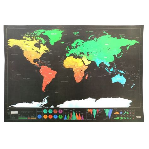 Scratch World Wall Map scratch map of the world poster