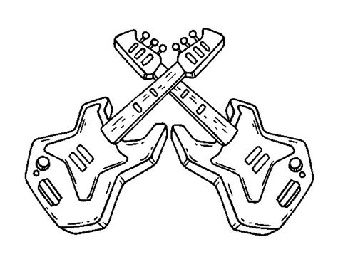 Electric Guitar Coloring Page by Electric Guitars Coloring Page Coloringcrew