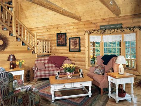 Log Home Living Rooms by Golden Eagle Log Homes Mountainside Log Homes Photos