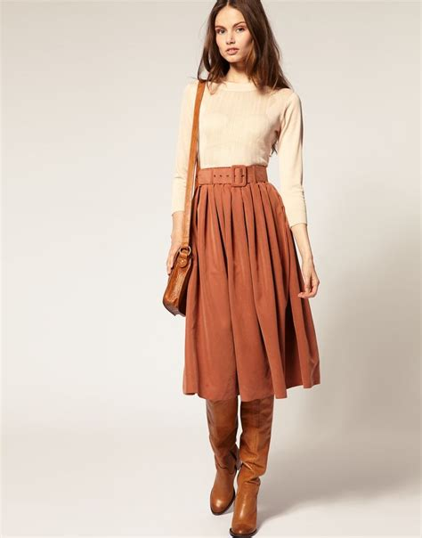 8 Skirts To Fall For by 25 Best Ideas About Skirt Boots On Brown