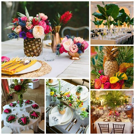 table decor tropical wedding theme perfect details