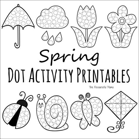 Spring Do A Dot Prinables Painting Sheets