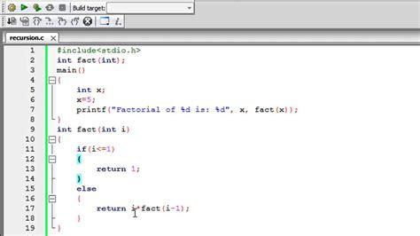 tutorial in c c programming tutorial 77 recursion in c youtube