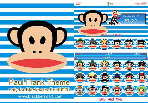 theme line android paul frank paul frank blackberry themes free download blackberry