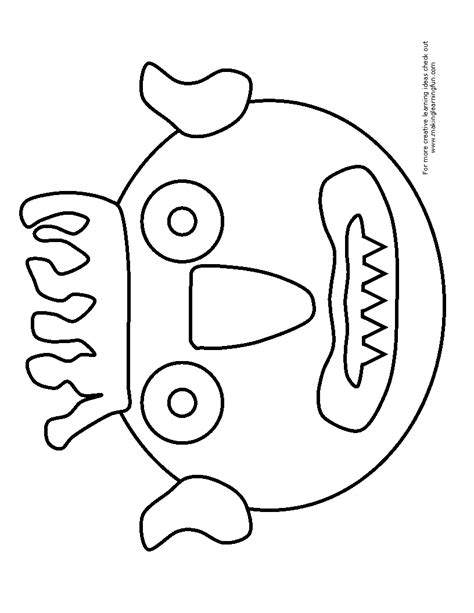Go Templates For Pages | go away big green monster coloring page coloring pages