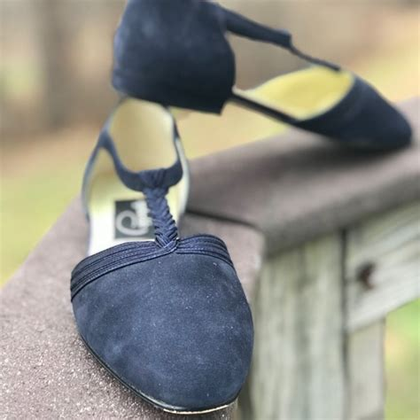40501 Colour Retro 77 pappagallo shoes vintage pappagallo navy suede t flats from debra s closet on